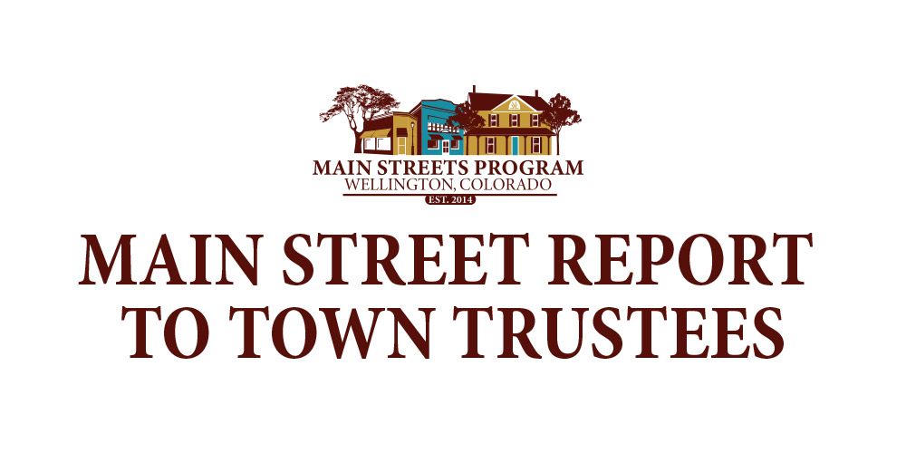 Main Street Reports to Town Trustees – May 2018