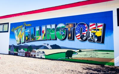 """""""Greetings from Wellington"""" Mural Brings Life, Color and Joy to The Community"""