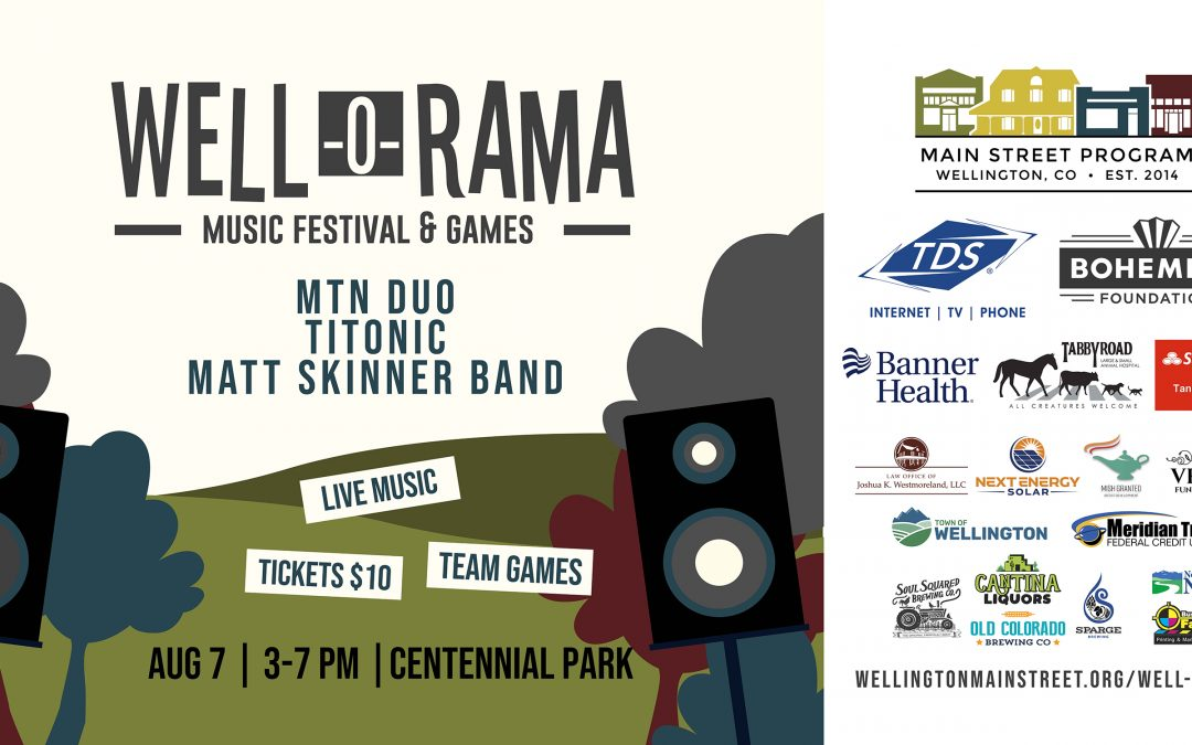 Well-O-Rama Music Festival and Games Returns to Downtown Wellington!